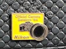 pins pin SPORT JO MEDIA PHOTO NIKON JO OLYMPIC OLYMPIQUE SARAJEVO 1984 RARE