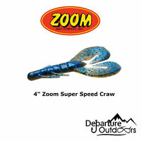 "Zoom Super Speed Craw 4"" - 8 Pack - Zoom Creature Bait Soft Plastic Fishing Lure"