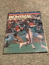 1976 Montreal Alouettes v Toronto Argonauts CFL Football Program Johnny Rodgers