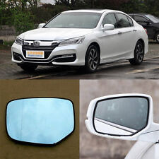 Rearview Mirror Blue Glasses LED Turn Signal with Power Heating For Honda Accord