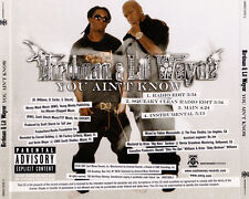 Birdman & Lil Wayne : You Ain't Know PROMO MUSIC AUDIO CD Squeaky Clean Radio 4t