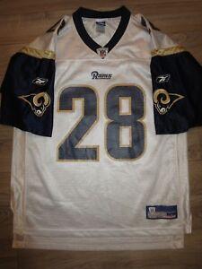 Marshall Faulk #28 St. Louis Rams Reebok Jersey LG L mens