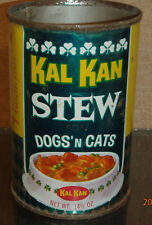 1965 KAL KAN CHUNK STEW FOR DOGS AND CATS FOOD TIN CAN VERNON CALIFORNIA