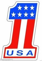 USA #1 AMERICAN FLAG HELMET BUMPER STICKER DECAL MADE IN USA