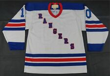 Rare Vintage MASKA New York Rangers Custom Kite #10 Away Jersey 90s White SZ M