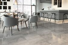 £19.19m2 Porcelain Tile Grey High Gloss 60x60 Wall Floor Kitchen Bathroom SAMPLE