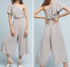 0362bfc6273 NWOT Anthropologie Maeve Jamie Wide Leg Jumpsuit Romper Black and White Sz  Small