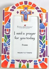 PAPEL GIFTWARE FRAME I SAID A PRAYER FOR YOU TODAY A CAST ART COMPANY 5X7 PHOTO