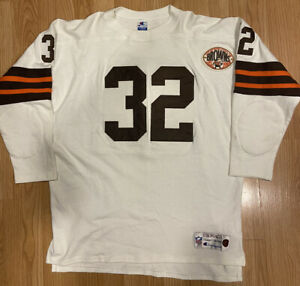 Jim Brown Mens XL Cleveland Browns Champion Throwback Vintage Collection Jersey