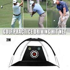 Foldable Golf Driving Cage Indoor Practice Hitting Net Garden Trainer Black 2M