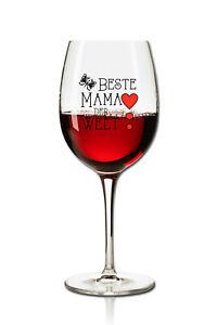 Weinglas Rotweinglas 360ml - Beste Mama der Welt