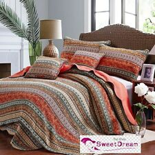 Cotton Patchwork Cotton Quilt Bedspread Coverlet Set 3 piece Queen King