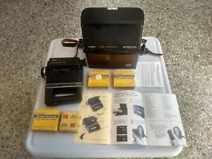 KODAK Ektasound 140 Movie Camera w/4 Ektachrome 160 film cartridges w/case