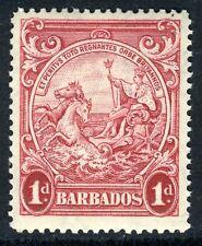 Barbados 1938 Badge of Colony 1d Scarlet MSCA Perf 14 SG 249 MNH UMM  U978