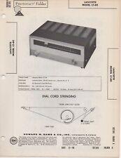1960 LAFAYETTE LT-80 RADIO SERVICE MANUAL PHOTOFACT SCHEMATIC FM TUNER DIAGRAM
