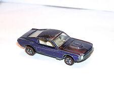1968 Hot Wheels Redline Custom Mustang TUF US PURPLE w WHITE INT COOL FILL READ!