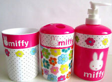 NEW Nick Jr Miffy Bunny 3-Piece Bathroom Accessories Set