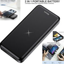 Portable 10000mAh Wireless Power Bank Pack Dual USB Battery Charger For Phone AU