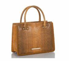 Brahmin Small Camille Cognac Brown Everett Satchel/Hand Bag Q15 1502 00017 NWT