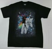 New Marvel Deadpool Kitty Cat Riding in Space Mens T-Shirt