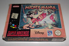 Mickey Mania Super Nintendo SNES Boxed PAL *No Manual*