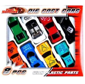 New Design 8 Piece Die Cast Metal Cars