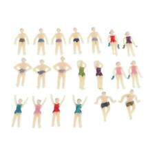 20PCS Swimmers Pose Model Summer Beach People Figures OO 1:75 Layout