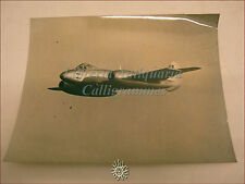 GLOSTER METEOR IV in volo pilotato dal Cpt. Wilson, bella fotografia d'epoca b/n