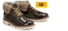 Caterpillar CAT Warm Fur Leather Lace Up Womens Ankle Boots Winter Fashion Shoes