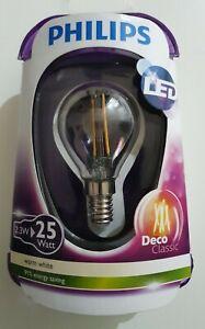 Philips LEDclassic Bulb Replaces 25W E14 P45 2.3 W 2700 Kelvin, 250 Lumen, Warm