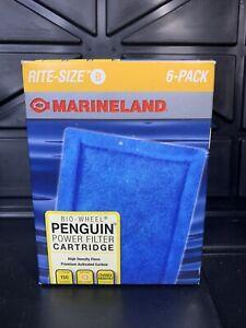 NEW Marineland Penguin Rite Size B Bio Wheel Power Filter 6 Pack Aquarium !