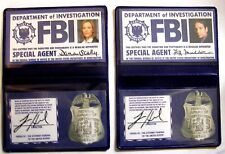Lot 2 badges Mulder et Scully cosplay X-Files FBI wallet Mulder & Scully cards