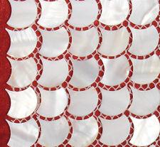 River Bed Nature Pearl Shell Mosaic  Tiles Nature Fan Shaped  Full Sheet