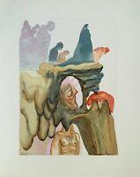 Dali Salvador: Hölle 34 - Holz Graviert Original #1960-1963 , La Divine