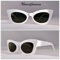 VTG 50s/60s Style womens Cat Eye Sunglasses Retro Rockabilly Glasses Vintage UK