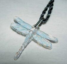 LALIQUE Talisman Libellule Dragonfly Iridescent Crystal Pendant Necklace NIB