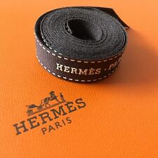 "Brand New Hermes Classic Brown Logo Ribbon 0.5 x 50"" Inches"