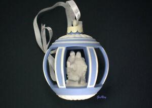 Wedgwood Blue Jasperware Christmas Ornament Nativity Scene