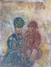 L.D. BJÖRN (1907-1989) HsT 70' Ecole de Paris Jeune Peinture Expressionnisme