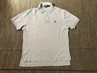 Polo Ralph Lauren Adult Mens Medium Polo Shirt Short Sleeve Gray (Blue Pony)