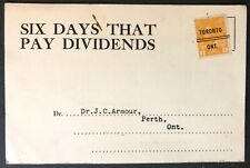 CANADA 1922  #105xx KING GEORGE V 1cent TORONTO CITY PRE-CANCEL ON POST CARD