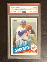 1985 Topps Fernando Valenzuela Authentic Autograph PSA/DNA Certified Card #440