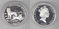 COOK ISLANDS - PROOF SILVER 5$ COIN 1996 YEAR KM#302 Lion, lioness and cubs