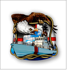 Coast guard eagle sticker decal   free shipping