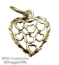 Heart Full of Love Charm / Pendant EP Gold Plated with Lifetime Guaranteed