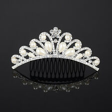 Pearl Crystal Tiara Rhinestone Hair Accessories Crown Wedding Bridal Headband