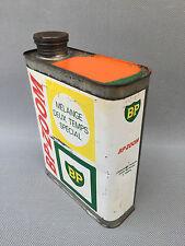 Ancien bidon d'essence 2T BP Zoom déco garage vintage french antique