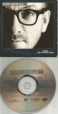 ELVIS COSTELLO Europe PROMO CD w/ UNRELEASED & LIVE & VIDEO TRX USA seller 2002