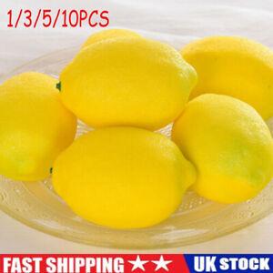 10x Limes Lemon Lifelike Artificial Foam Fake Fruit Imitation Home Party Decor