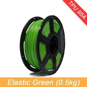 3D Printer Elastic Flexible TPU Filament 1.75mm Rubber Material Flex Tools Lot